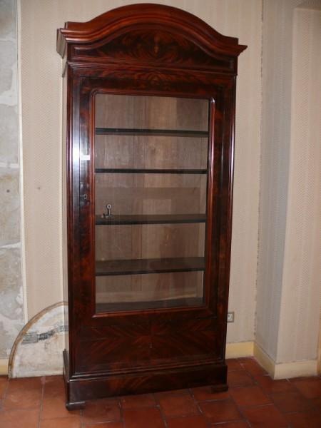 vitrine biblioth que louis philippe meuble ancien albert antiquit. Black Bedroom Furniture Sets. Home Design Ideas