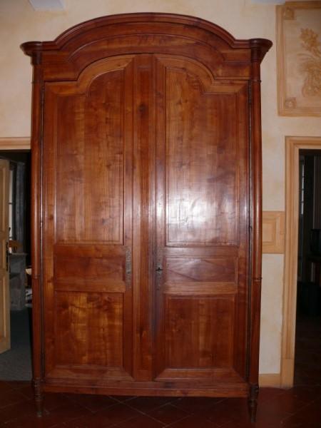 grande armoire en cerisier meuble ancien albert antiquit. Black Bedroom Furniture Sets. Home Design Ideas