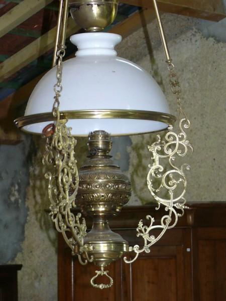 lustre suspension luminaire laiton et opaline albert antiquit. Black Bedroom Furniture Sets. Home Design Ideas