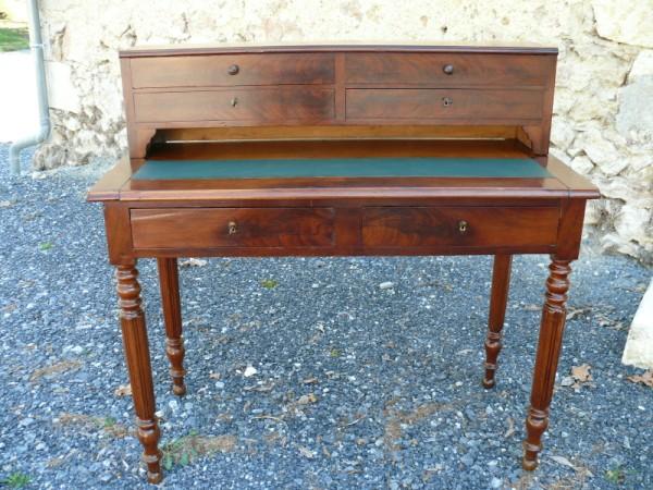 bureau secr taire louis philippe en acajou albert antiquit. Black Bedroom Furniture Sets. Home Design Ideas
